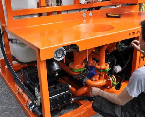 horizontal drilling HDD mud systems bentonite pump unit bfm 180 d