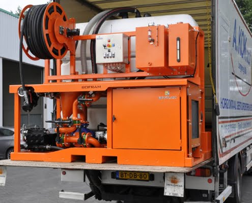 trenchless technology bentonite unit bfm 180 d truck HDD Mud system