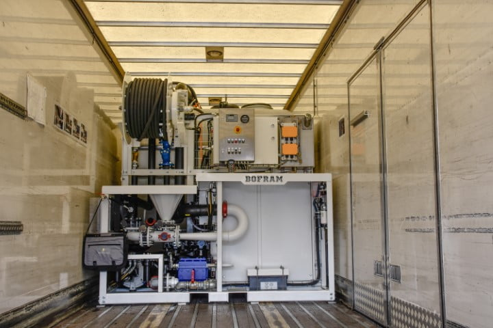 bofram hdd industry drilling mix- & pump system adjust