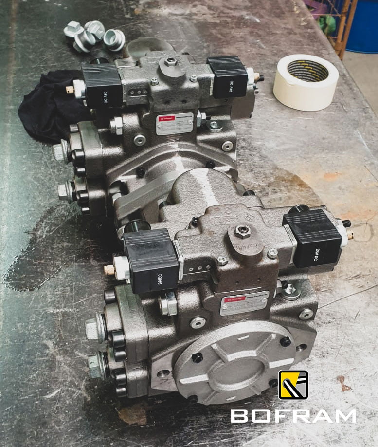 Hydraulic closed system pumps on the PTO