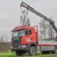 Vrachtwagen Atlas autolaadkraan PJ de Vet uit Mill