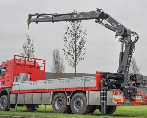 Vrachtwagen slanghaspel PJ de Vet uit Mill