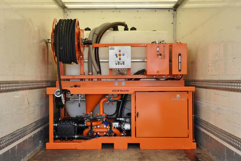 Bofram bentonietunit BFM 180 D importeren in vrachtwagen