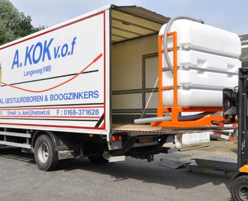 Bofram bentonietunit BFM 180 D in vrachtwagen