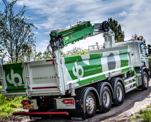 Vrachtwagen truck opbouw Van Boekel veiligheid