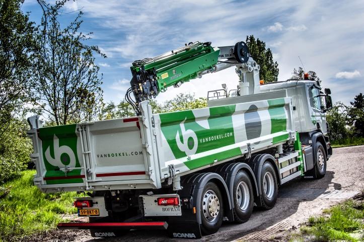 Verrassend Vrachtwagenopbouw met een Atlas autolaadkraan incl grote laadbak ZW-52
