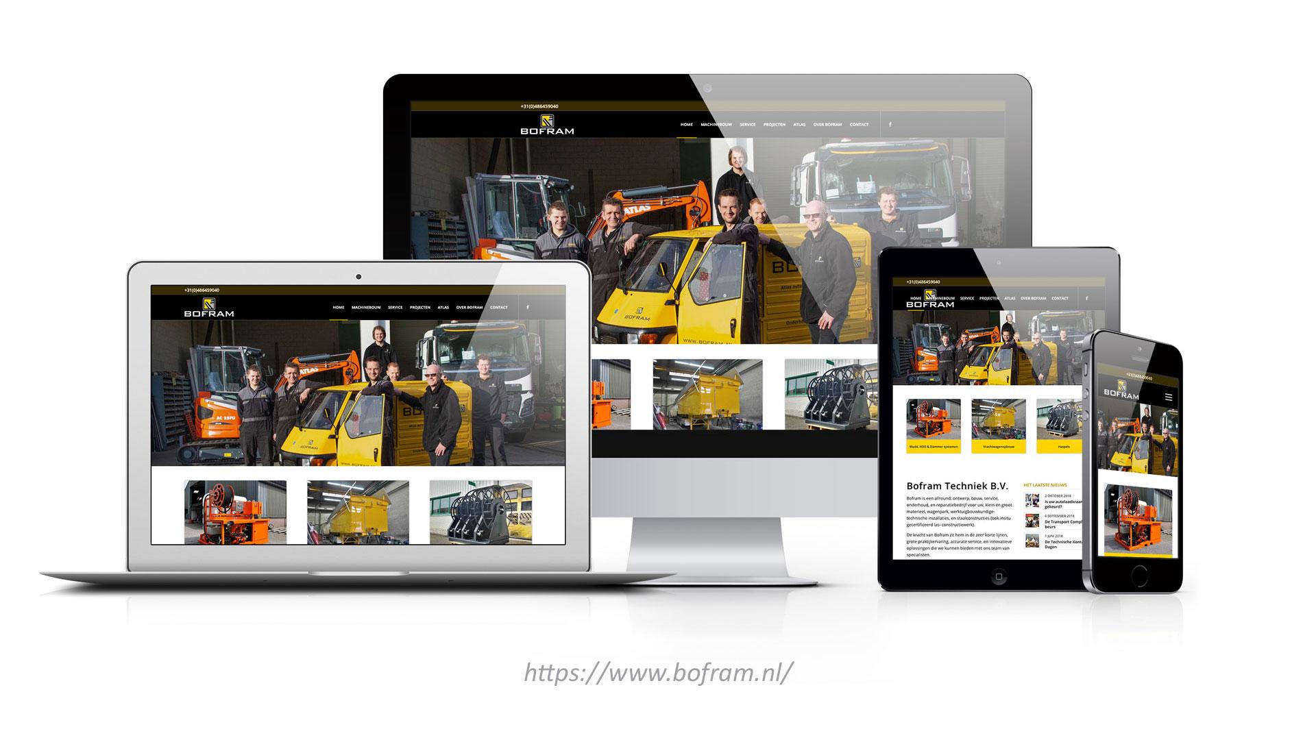 Bofram lancering website