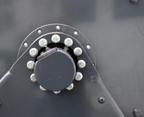 industriële slanghaspel detail