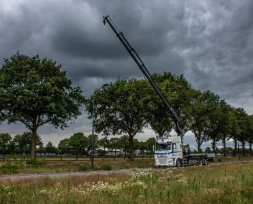 Bofram gieklengte 16 meter zware Atlas autolaadkraan Peter Peters Schaijk