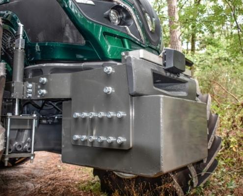 Contragewicht Bofram Techniek Tractor met Atlas autolaadkraan