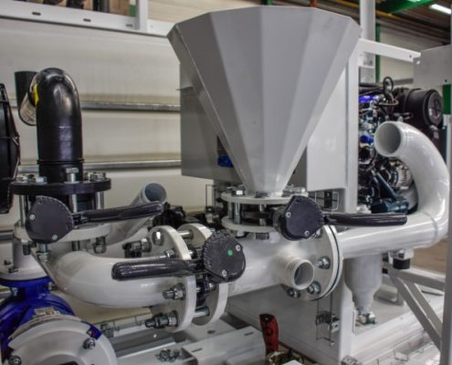 Bofram HDD bentoniet mix en hoge druk pomp systeem