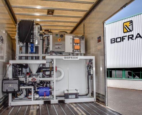 Bofram HDD bentoniet unit in boorwagen Moll Gestuurd Boren in Winkel